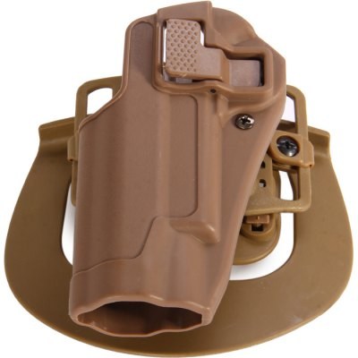 Military Left Hand Holster for 1911 Pistol with Belt Loop AttachmentCamping / Hiking<br>Military Left Hand Holster for 1911 Pistol with Belt Loop Attachment<br><br>Material: Polymer<br>Color: Soil Color, Black<br>Product weight: 0.114 kg<br>Package weight  : 0.248 kg<br>Product size (L x W x H): 14.5 x 10 x 6 cm / 5.70 x 3.93 x 2.36 inches<br>Package size (L x W x H): 22.0 x 16.0 x 7.5 cm / 8.65 x 6.29 x 2.95 inches<br>Package contents: 1 x Left Hand Waist Holster for 1911 Pistol, 1 x Belt Loop Attachment