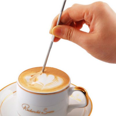Cappuccino Flower Pin Stipa DIY Fancy Coffee Garland Needle Stainless Steel Carved Stick Art Pen