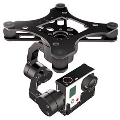 X - CAM V2.0 A10-3H 3 Axis Brushless Gimbal Automatic Stabilization for GoPro Camera FPV