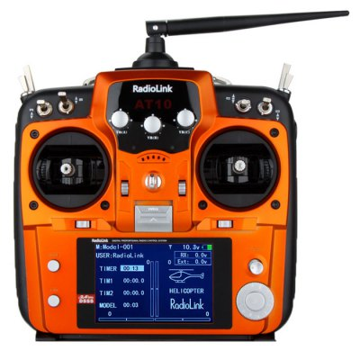 Гаджет   RadioLink AT10 2.4GHz 10 Channel Remote Control System Multi Rotor Parts