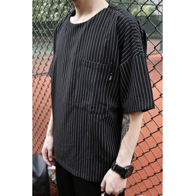 Stylish Round Neck Vertical Stripe Large Pocket Loose Fit Short Sleeve Cotton Blend T-Shirt For MenMens Short Sleeve Tees<br>Stylish Round Neck Vertical Stripe Large Pocket Loose Fit Short Sleeve Cotton Blend T-Shirt For Men<br><br>Material: Cotton, Polyester<br>Sleeve Length: Short<br>Collar: Round Neck<br>Style: Fashion<br>Weight: 0.35KG<br>Package Contents: 1 x T-Shirt<br>Embellishment: Pockets<br>Pattern Type: Striped