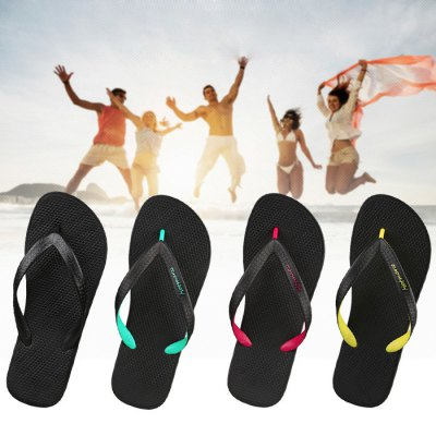 Hotmarzz Unisex Beach Slippers Anti-slip Flat SoleSandals<br>Hotmarzz Unisex Beach Slippers Anti-slip Flat Sole<br><br>Type: Other Camping Gear<br>Material: Rubber<br>Color: Black, Green, Yellow, Red<br>Product weight   : 0.350 kg<br>Package weight   : 0.400 kg<br>Product size (L x W x H)   : 25.4 x 9.7 x 3.0 cm / 9.98 x 3.81 x 1.18 inches<br>Package size (L x W x H)  : 39.0 x 28.0 x 5.0 cm / 15.33 x 11.00 x 1.97 inches<br>Package Contents: 1 x Pair of Slipper