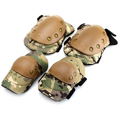 Tactical Outdoor Sports Army Military Combat Knee and Elbow Guards Protection Set