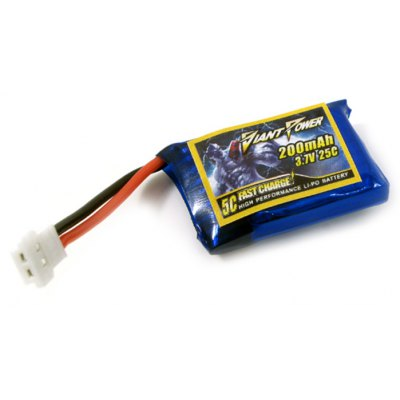 3.7V / 1S 25C 200mAh Giant Power Mini Li-po Battery for HISKY FBL80 6CH RC Model