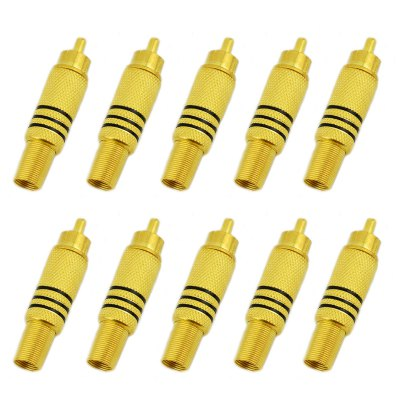 Jtron RCA Plug Gold-plated - 10PCS