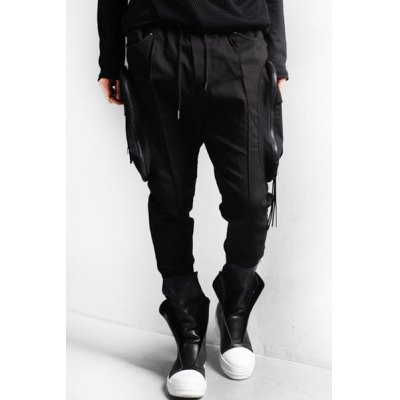 Гаджет   Rock Lace-Up Zipper Pockets Design Beam Feet Men
