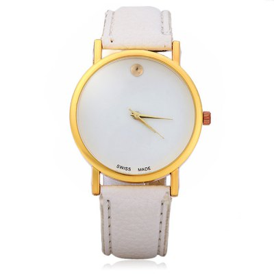 Гаджет   Women Simple Quartz Watch with Leather Band Women