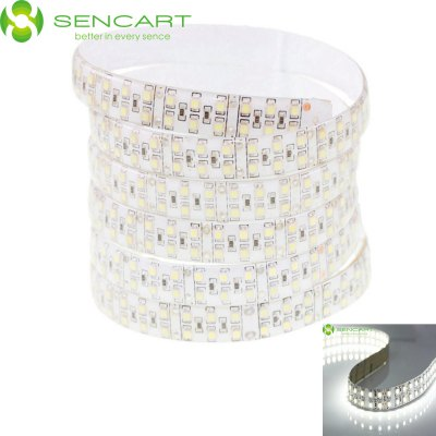 SENCART 5M Dual Row 3600LM 1200 SMD 3528 6000K LED Tape Light SENCART