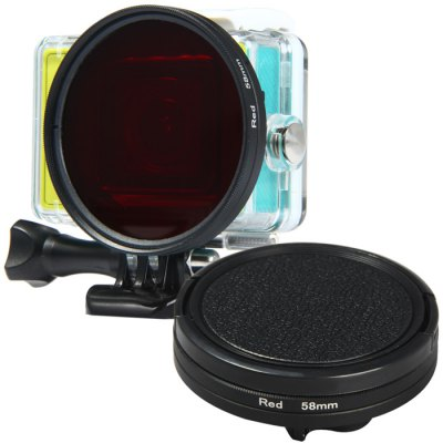 58mm Color Filter Square Adapter Ring Lens Cover Set