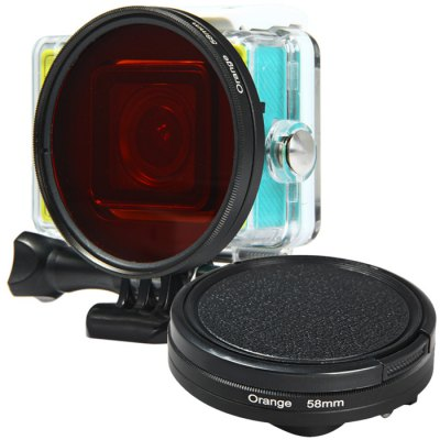 58mm Color Filter + Lens Cover Set for Xiaomi Yi Action Sports Camera