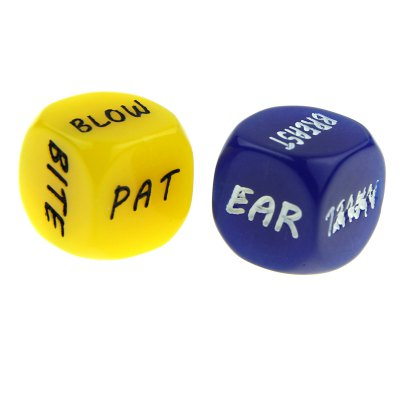 Гаджет   ENKAY Creative Carved Sexy Dice Bachelor Party Adult Toy 2PCS Puzzle & Educational