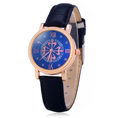 ФОТО Weesky 1216L Female Diamond Quartz Watch with Date Function Flower Dial