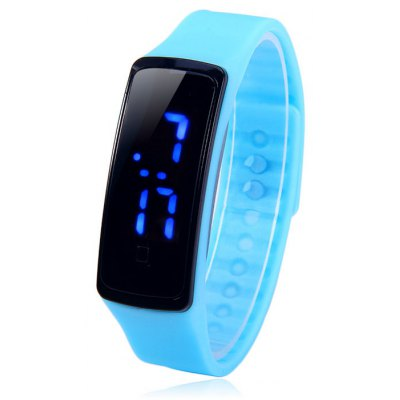 HZ5 Blue Digital LED Sports Watch