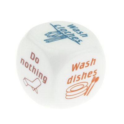ENKAY 6 - Sided Funny Housework Desider Dice 2.5cm - 2PCS от GearBest.com INT