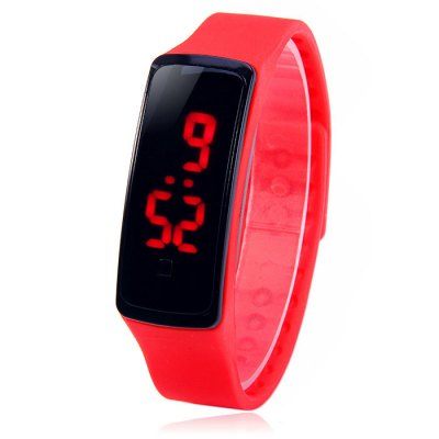 HZ5 Red Digital LED Sports Watch Date Function Rubber Band WristwatchLED Watches<br>HZ5 Red Digital LED Sports Watch Date Function Rubber Band Wristwatch<br><br>People: Unisex table<br>Watch style: Fashion&amp;Casual, Outdoor Sports, LED<br>Available color: White, Red, Orange, Deep Blue, Lake Blue, Black<br>Shape of the dial: Rectangle<br>Movement type: Digital watch<br>Display type: Digital<br>Hour formats: 12/24 Hour<br>Case material: PC<br>Band material: Rubber<br>Clasp type: Buckle<br>Special features: Date<br>The dial thickness: 1.2 cm / 0.47 inches<br>The dial diameter: 2.0 cm / 0.79 inches<br>The band width: 1.7 cm / 0.67 inches<br>Wearable Length:: 17 - 21.5 cm / 6.69 - 8.46 inches<br>Product weight: 0.023 kg<br>Package weight: 0.073 kg<br>Product size (L x W x H) : 22.5 x 2 x 1.2 cm / 8.84 x 0.79 x 0.47 inches<br>Package size (L x W x H): 23.5 x 3 x 2.2 cm / 9.24 x 1.18 x 0.86 inches<br>Package contents: 1 x HZ5 LED Sports Watch