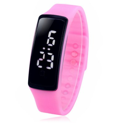 HZ57 LED Sports WatchLED Watches<br>HZ57 LED Sports Watch<br><br>People: Unisex table<br>Watch style: Fashion&amp;Casual, Outdoor Sports, LED<br>Available color: Pink, Red, Deep Blue, Lake Blue, Black, White<br>Shape of the dial: Rectangle<br>Movement type: Digital watch<br>Display type: Digital<br>Hour formats: 12/24 Hour<br>Case material: PC<br>Band material: Rubber<br>Clasp type: Buckle<br>Special features: Date<br>The dial thickness: 1.2 cm / 0.47 inches<br>The dial diameter: 2.0 cm / 0.79 inches<br>The band width: 1.7 cm / 0.67 inches<br>Wearable Length:: 17 - 21.5 cm / 6.69 - 8.46 inches<br>Product weight: 0.023 kg<br>Package weight: 0.073 kg<br>Product size (L x W x H) : 22.5 x 2 x 1.2 cm / 8.84 x 0.79 x 0.47 inches<br>Package size (L x W x H): 23.5 x 3 x 2.2 cm / 9.24 x 1.18 x 0.86 inches<br>Package contents: 1 x HZ5 LED Sports Watch