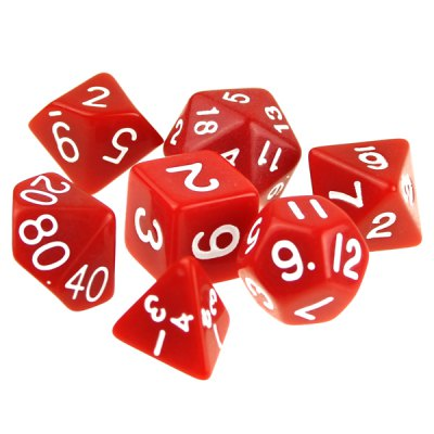 ENKAY 7PCS Different Polyhedral Dice for Dungeons and Dragons