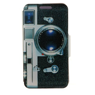 Camera Pattern PU Cover Case for Huawei P6