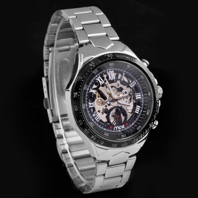 ФОТО Mce Men Hollow-out Automatic Mechanical Watch