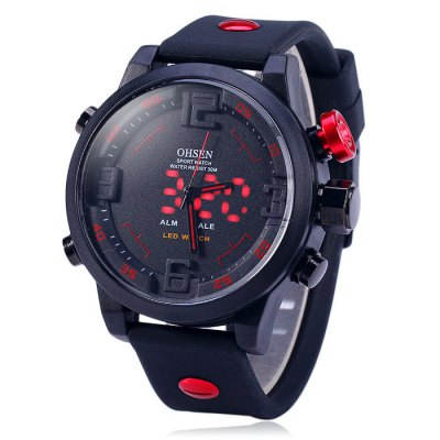 Гаджет   OHSEN AD2820 Dual Movt LED Sport Watch Sports Watches