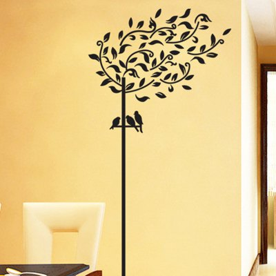 Removable Willow Tree Design Wall Stickers with PVC Material