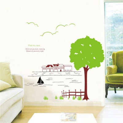 Гаджет   Tree and River Design Wall Stickers