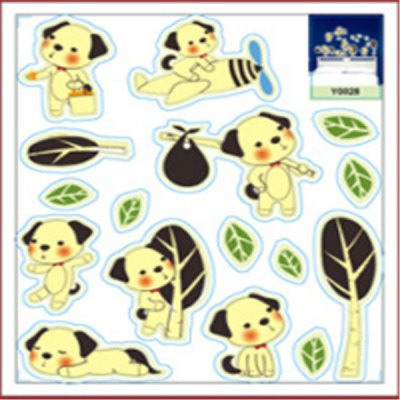 ФОТО Puppy Cartoon Design Fluorescence Wall Stickers Removable Art Decals Home Appliances