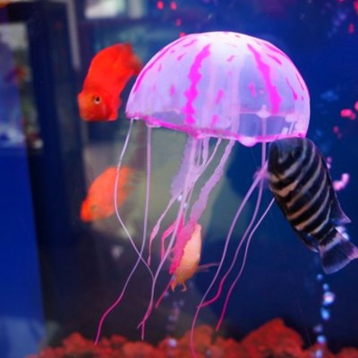 5cm Artificial Vivid Silicone Jellyfish for Fish Aquarium Decoration