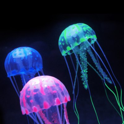 5cm Artificial Vivid Silicone Jellyfish for Fish Aquarium DecorationIndoor Lights<br>5cm Artificial Vivid Silicone Jellyfish for Fish Aquarium Decoration<br><br>Feature: Glowing effect<br>Optional size: Small size<br>Optional color: Purple, Yellow, Green, Blue, Pink<br>Product weight: 0.010 kg<br>Package weight: 0.06 kg<br>Product size (L x W x H): 5 x 5 x 2.5 cm / 1.97 x 1.97 x 0.98 inches<br>Package size (L x W x H): 7 x 7 x 5 cm / 2.75 x 2.75 x 1.97 inches<br>Package Contents: 1 x Artificial Jellyfish