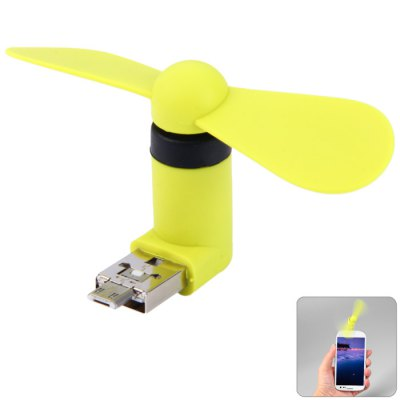 USB and Micro USB Phone Fan for Samsung Galaxy S6 / S6 Edge HTC LG