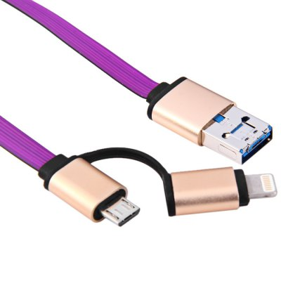 8 Pin and Micro USB Charge Cable