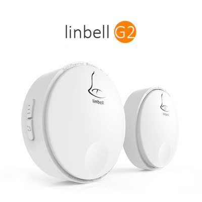 Linbell G2 Self-Powered Wireless DoorbellDoorbell<br>Linbell G2 Self-Powered Wireless Doorbell<br><br>Brand: Linbell<br>Model: G2<br>Voltage: AC 110 - 220V<br>Frequency: 433MHz<br>Power: 0.25W<br>Product Weight: 0.145 kg<br>Package Weight: 0.211 kg<br>Product Size  ( L x W x H ): 6.7 x 6.7 x 2 cm / 2.63 x 2.63 x 0.79 inches<br>Package Size ( L x W x H ): 20 x 11.5 x 5.5 cm / 7.86 x 4.52 x 2.16 inches<br>Package Contents: 1 x Wireless Doorbell Receiver, 1 x Transmitter