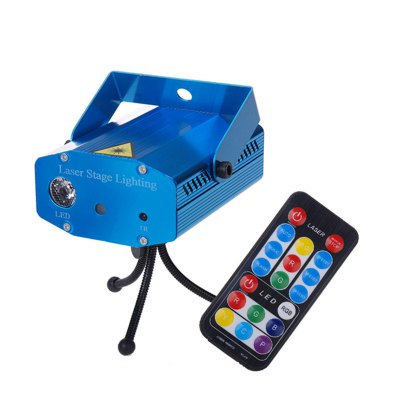 LT - MN Mini LED Laser Stage Projector Lamp with Remote Controller