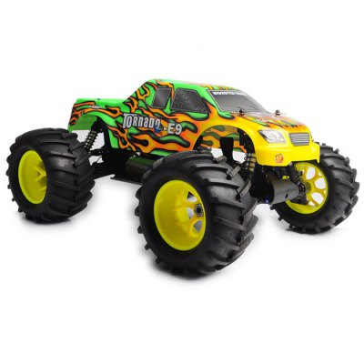 HSP 94083E9 1 / 8 Scale 2.4GH 4WD Brushless RC Truck with 100A Brushless ESCRC Cars<br>HSP 94083E9 1 / 8 Scale 2.4GH 4WD Brushless RC Truck with 100A Brushless ESC<br><br>Type: RC Trucks<br>Remote Control: 2.4GHz Wireless Remote Control<br>Channel: 2-Channels<br>Transmitter Power: 4 x 1.5V AA (not included)<br>Package Weight  : 7.2 kg<br>Product Size (L x W x H)   : 40 x 49 x 26 cm / 15.72 x 19.26 x 10.22 inches<br>Package Size (L x W x H) : 55 x 50 x 35 cm / 21.62 x 19.65 x 13.76 inches<br>Package Contents: 1 x Vehicle, 1 x Transmitter, 1 x Battery, 1 x Charger