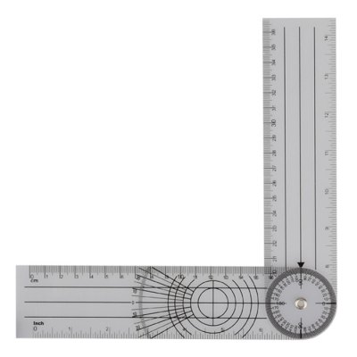 Professional 360 Degree Rotatable Measuring Scale Ruler