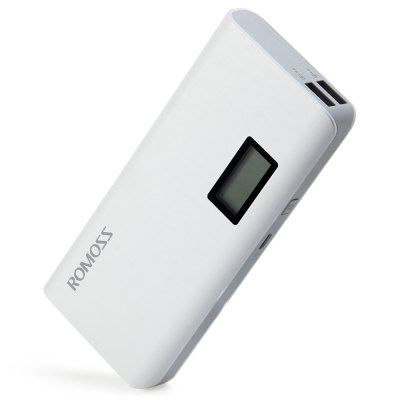 ROMOSS Sense 4 Plus LCD 10400mAh External Battery Pack Power BankPower Banks<br>ROMOSS Sense 4 Plus LCD 10400mAh External Battery Pack Power Bank<br><br>Brand: ROMOSS<br>Type: Portable Mobile Powers<br>Model: Sense 4 Plus<br>Compatibility  : Universal, Samsung S6 Edge Plus, iPhone 6S, Samsung Note 5<br>Compatible with: Mobile phones and tablets<br>Capacity (mAh): 10400mAh<br>Special Functions: Multi-Output<br>Connection Type: Two USB Output Interface<br>Battery type: Li-ion Battery<br>Color: White<br>Material: PVC, ABS<br>Power: 38.5Wh / 3.7V<br>Charging time: 6.5 hours with 2.1A input; 13.5 hours with 1A input<br>Input: DC5V 2.1A<br>Output: DC5V 2.1A / DC5V 1A<br>Product weight: 0.300 kg<br>Package weight: 0.400 kg<br>Product size (L x W x H) : 13.8 x 6.2 x 2.2 cm / 5.42 x 2.44 x 0.86 inches<br>Package size (L x W x H): 17.5 x 12.0 x 3.5 cm / 6.88 x 4.72 x 1.38 inches<br>Package Contents : 1 x ROMOSS Sense 4 Plus 10400mAh External Battery Pack Power Bank Portable Charger, 1 x USB Charging Cable