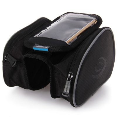 Roswheel 4.7 inch Outdoor Bike Front Frame Tube Saddle Bag with Dual Pouch for iPhone 6 Samsung Sony HTC