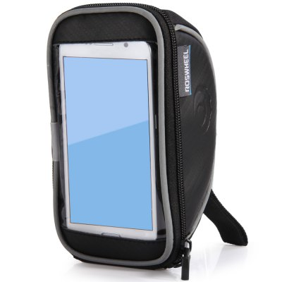 Roswheel Bicycle 4.7 inch Touch Screen Phone Bag Bike Repair Tools Pack Front Tube Pocket for Biking Riding CyclingBike Bags<br>Roswheel Bicycle 4.7 inch Touch Screen Phone Bag Bike Repair Tools Pack Front Tube Pocket for Biking Riding Cycling<br><br>Type: Cycling bag, Bicycle Bag<br>Brand Name: Roswheel<br>Material: Polyester, PU<br>Color: Black<br>Size: M<br> Product weight : 0.119 kg<br>Package weight : 0.150 kg<br>Product size (L x W x H)   : 17.5 x 8.5 x 10.5 cm / 6.88 x 3.34 x 4.13 inches<br>Package size (L x W x H)  : 19 x 10 x 12 cm / 7.47 x 3.93 x 4.72 inches<br>Package Contents: 1 x Roswheel Bicycle Phone Bag 4.7 inch Touch Screen Bike Repair Tools Pack Pocket for Biking Riding Cycling