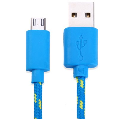 Fabric Braided Data Charging Cable 1 Meter