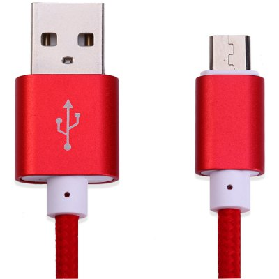 1.4 Meters Nylon Fabric Braided Micro USB to USB Data Charging Cable