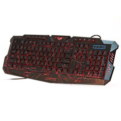 M-200 3 Colors Backlight Wired Gaming Keyboard for Windows XP Vista 7 8 Mac
