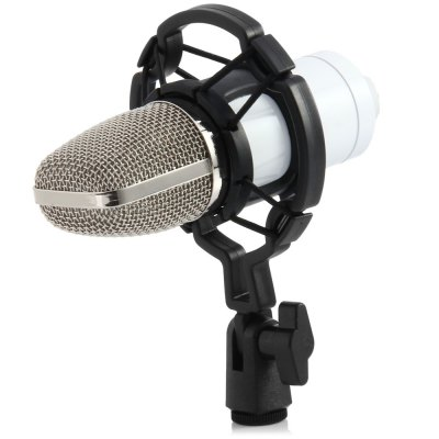 BM - 700 Condenser Sound Recording Microphone with Shock MountMicrophone<br>BM - 700 Condenser Sound Recording Microphone with Shock Mount<br><br>Type: Wired<br>Connection: 3.5mm<br>Polar Pattern: Uni-directional<br>Frequency Range : 20Hz-16kHz<br>Product weight: 0.216KG<br>Package weight: 0.520 KG<br>Product size (L x W x H): 14.50 x 4.70 x 3.00 cm / 5.71 x 1.85 x 1.18 inches<br>Package size (L x W x H): 29.00 x 19.00 x 7.00 cm / 11.42 x 7.48 x 2.76 inches<br>Package Contents: 1 x BM - 700 Condenser Studio Sound Recording Microphone with Shock Mount, 1 x Shock Mount, 1 x Anti-wind Foam Cap, 1 x 3.5mm Audio Cable