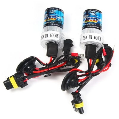 2pcs H1 12V 55W 4000lm 6000K White Light HID Xenon Head Lamp Car HeadlampCar Lights<br>2pcs H1 12V 55W 4000lm 6000K White Light HID Xenon Head Lamp Car Headlamp<br><br>Type   : Headlights<br>Connector: H1<br>Feature: High Output, Low Power Consumption, Easy to use<br>Emitting color : White<br>Color temperature: 6000K<br>Voltage : 12V<br>Power : 55W<br>Lumens: 4000lm<br>Type of lamp-house : Xenon<br>Apply lamp position: External Lights<br>Product weight   : 0.112 kg<br>Package weight   : 0.22 kg<br>Package size (L x W x H)  : 17 x 12 x 6.5 cm / 6.68 x 4.72 x 2.55 inches<br>Package Contents: 2 x Car Lamp