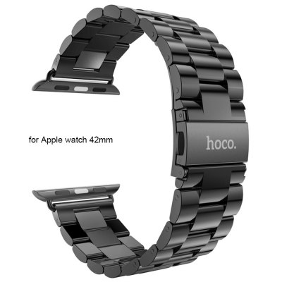 Hoco Stainless Steel Watchband Strap Safety Folding Clasp Band for Apple Watch 42mm