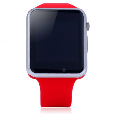 W8 Bluetooth Smart Watch GSM PhoneSmart Watches<br>W8 Bluetooth Smart Watch GSM Phone<br><br>Bluetooth version: Bluetooth 3.0<br>SIM Card Slot: Micro SIM card slot<br>External memory: TF card up to 8GB<br>Waterproof: No<br>Bluetooth calling: Answering,Call log sync,Dialing,Phone call reminder,Phonebook<br>Messaging: Message checking,Message reminder,Message sending<br>Health tracker: Pedometer,Sedentary reminder,Sleep monitor<br>Remote Control: Camera remote,Music remote<br>Notification: Yes<br>Anti-lost: Yes<br>Find phone: Yes<br>Other Functions: Alarm,Calculator,Calender,Flight mode,FM radio,GMT,Stopwatch,Video,Voice recorder,Weather forecast<br>Groups of alarm: 5 sets<br>Alert type: Ring,Vibration<br>Locking screen : 3 kinds of clock interfaces<br>Screen: TFT<br>Screen resolution: 240 x 240 px<br>Screen size: 1.54 inch<br>Camera Pixel : 0.3MP<br>Battery Capacity: 380mAh<br>Standby time: About 100 hours<br>People: Unisex watch<br>Shape of the dial: Rectangle<br>Case material: Stainless Steel<br>Band material: Nano-silicone<br>Compatability: Android and iOS<br>Language: English,French,Greek,Italian,Portuguese<br>Available color: Brown,Red,White<br>Dial size: 4.0 x 4.7 x 1.1 cm / 1.57 x 1.89 x  0.43 inches<br>Wearing diameter: 17 - 22 cm / 6.69 - 8.66 inches<br>The band width: 2.1 cm / 0.83 inches<br>Product size (L x W x H): 25.00 x 4.00 x 1.10 cm / 9.84 x 1.57 x 0.43 inches<br>Package size (L x W x H): 10.80 x 10.80 x 7.70 cm / 4.25 x 4.25 x 3.03 inches<br>Product weight: 0.053 kg<br>Package weight: 0.294 kg<br>Package Contents: 1 x W8 Smart Watch GSM Phone, 1 x Chinese and English Manual, 1 x Charging Cable, 1 x Box