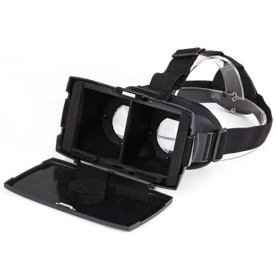 Virtual Reality 3D Video Glasses with Elastic Band and Cover for 4 - 7 inch Smartphones