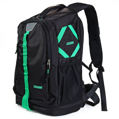 Caden E7 Nylon Cotton Water-resistant Camera BackpackPhotography Accessories<br>Caden E7 Nylon Cotton Water-resistant Camera Backpack<br><br>Type: Double shoulder, Multi-purpose design<br>Material: Nylon<br>Product weight: 1.327 kg<br>Package weight: 1.38 kg<br>Product size (L x W x H): 43 x 28.5 x 17.5 cm / 16.90 x 11.20 x 6.88 inches<br>Package size (L x W x H): 45 x 30 x 19 cm / 17.69 x 11.79 x 7.47 inches<br>Package contents: 1 x Caden E7 Nylon Cotton Water-resistant Camera Backpack