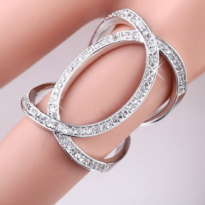 Luxury Rhinestoned Hollow Out Ring