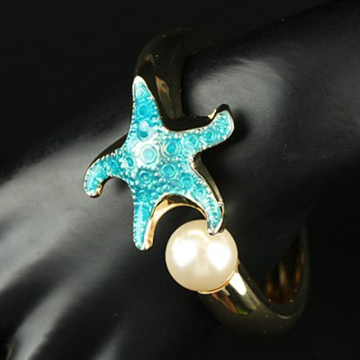 Chic Faux Pearl Starfish Bracelet For Women