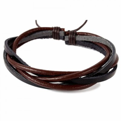 Faux Leather Rope Twisted Bracelet